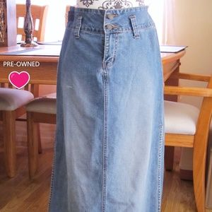 No Boundries Stone Washed Jean Maxi Skirt